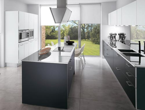 Kitchen remodel designs grey kitchen flooring for Popular kitchen designs