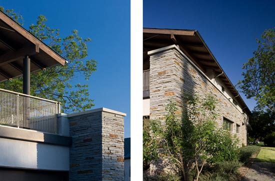 drystack stone modern exterior