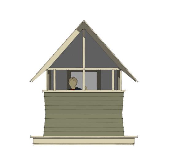 Bug Playhouse - Rear Elevation