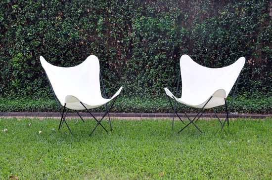 Butterfly Chairs with Circa50 covers