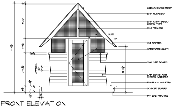 Casa 2011 Bug House Front Elevation