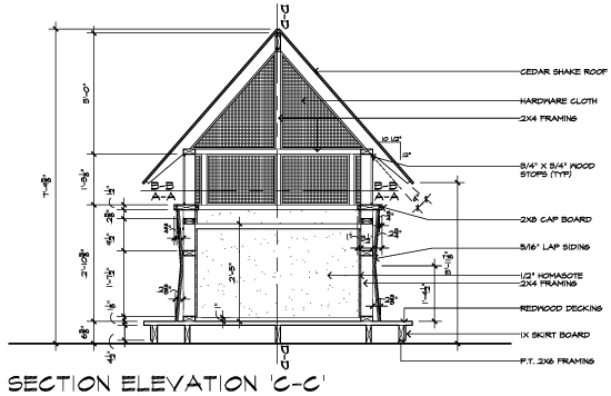Casa 2011 Bug House Section Elevation CC