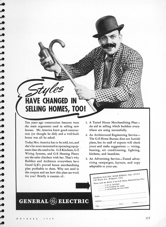 General Electric Home Sales Ad Architectural Forum Magazine