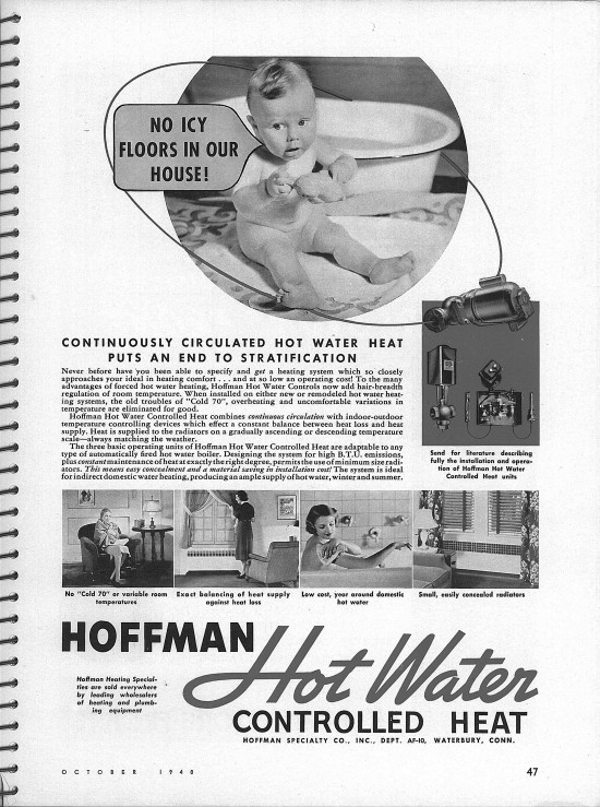 Hoffman Hot Water Ad Architectural Forum Magazine