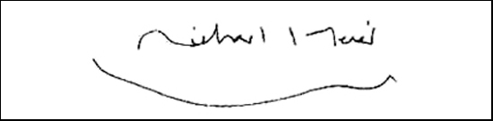 the signature of architect Richard Meier