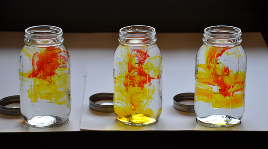 orange dye for mason jar