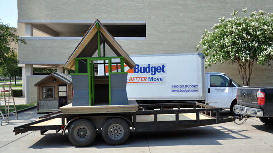 Bug House being delivered