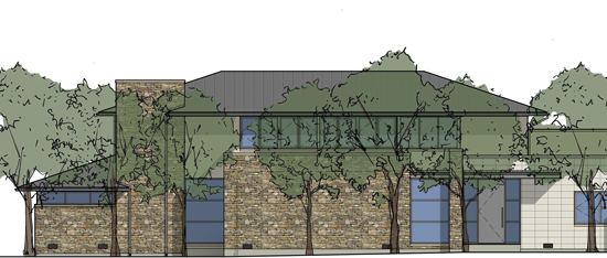 Partial Front Elevation Rendering