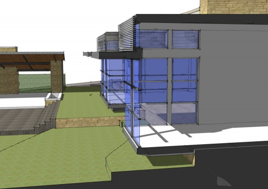 Cantilevered room section in SketchUp