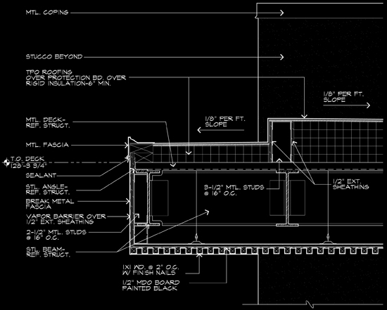 Exterior Ceiling CAD Detail