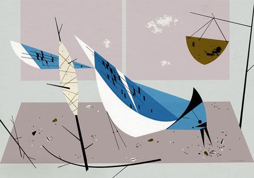 Charley Harper Blue Jay
