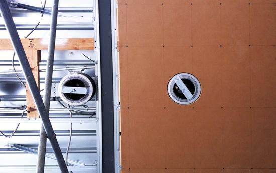 Medium Density Fiberboard being installed