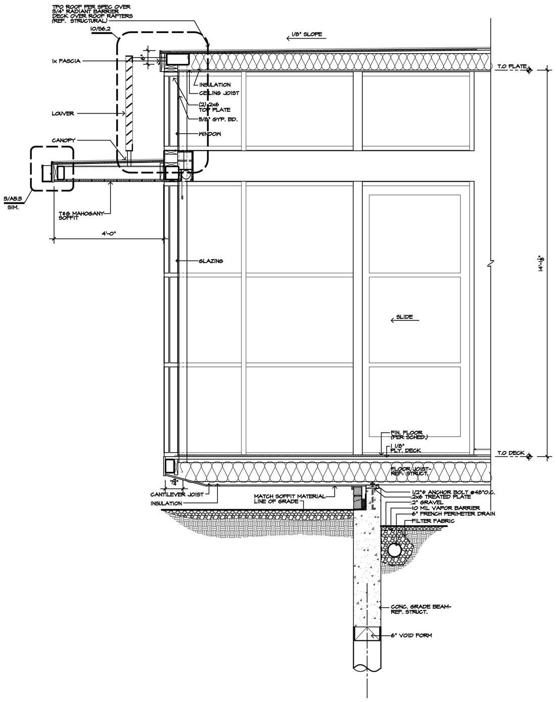 Modern house project for 2012 life of an architect for Section window design