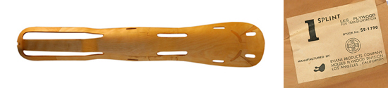 Evans Products Company Eames Leg Splint