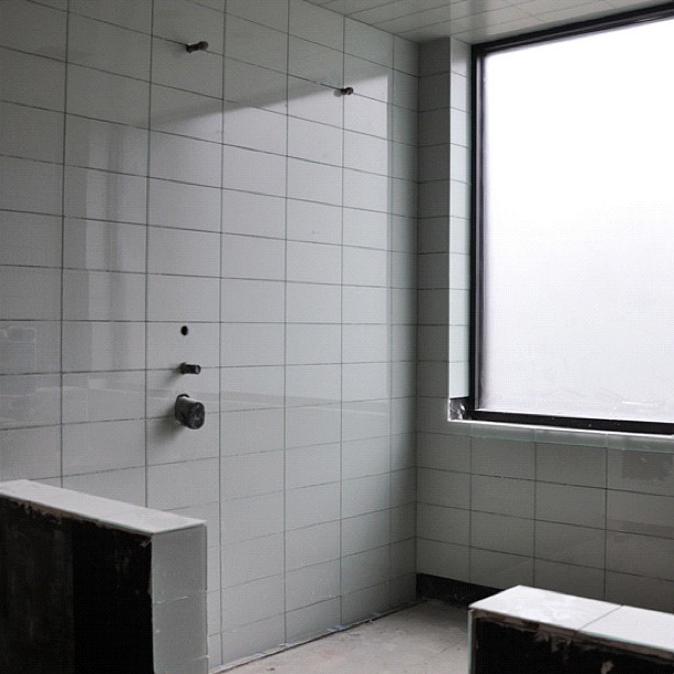 Modern house glass tile bathroom shower Modern bathroom tile images