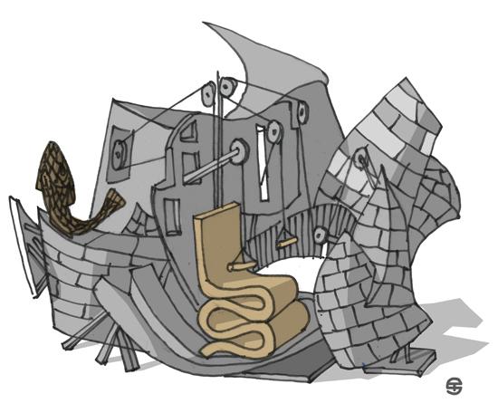 "Frank Gehry ""Titanium Clad Home Gym"""