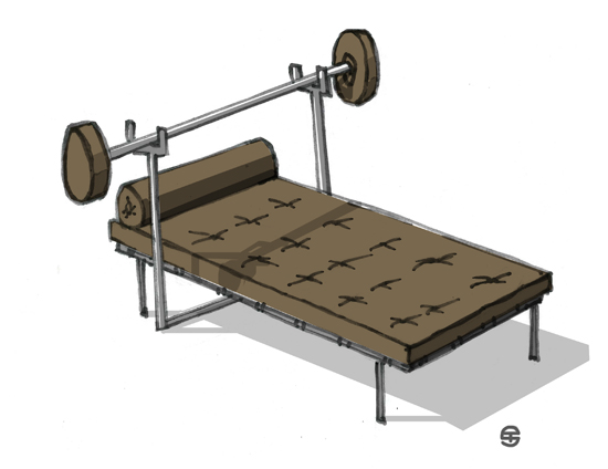 "Mies van der Rohe ""Barcelona Bench Press"""