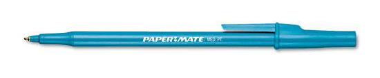 paper mate blue ballpoint pen