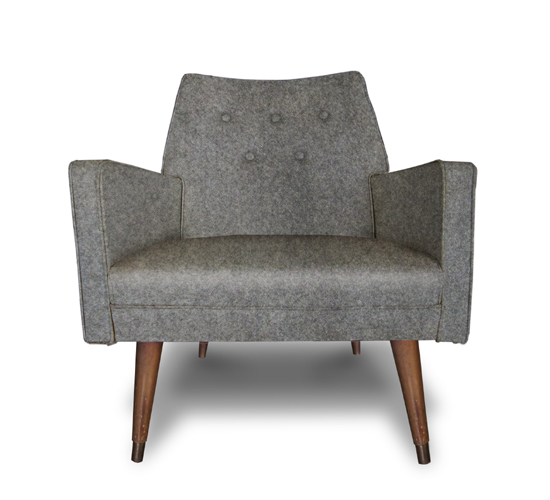 Grey Felt chair
