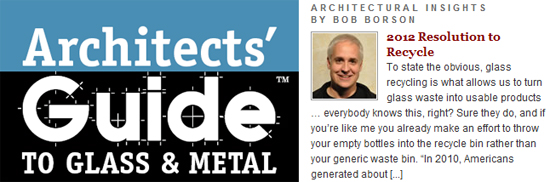 Architects Guide to Glass and Metal - articles by Bob Borson