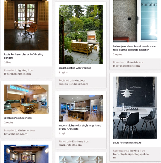 Pinterest pins from Life of an Architect