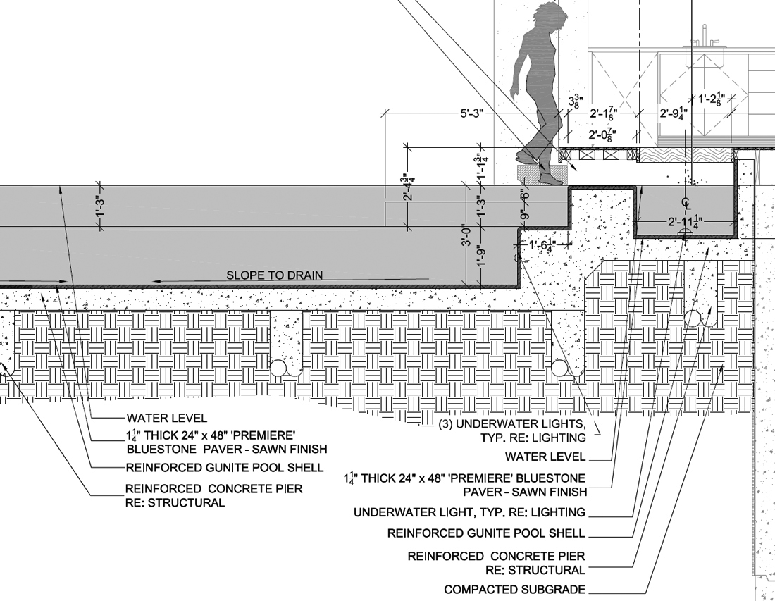 Pool or water feature life of an architect for Pool design drawings