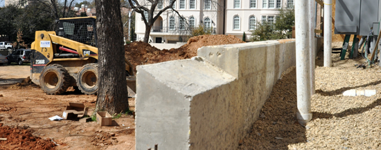 retaining wall detail