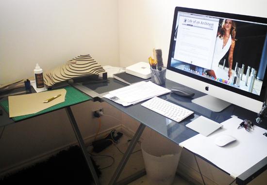 Nicholas Dalziell student home desk