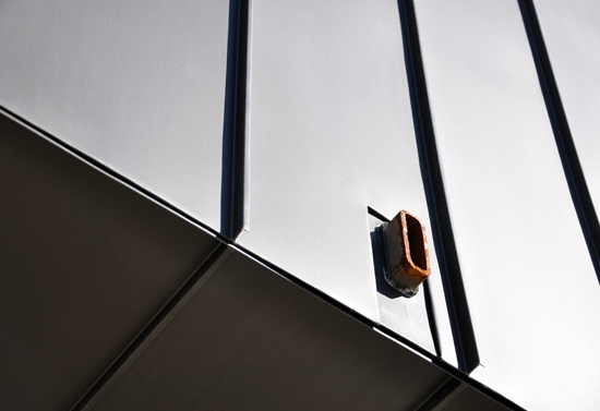 steel bracket in zinc siding