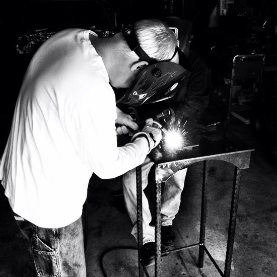 Bob Borson welding