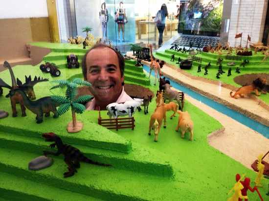 Bruce Bernbaum in the Diorama playhouse
