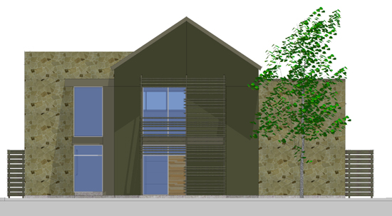 Front Elevation alternate scheme in SketchUp