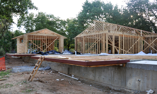 floor joist framing at cantilevers