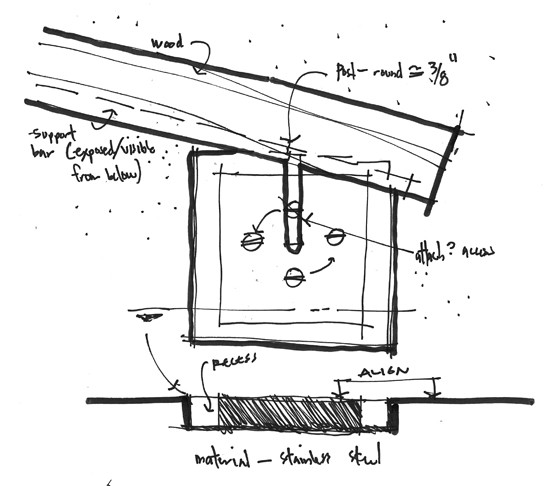 Handrail Bracket Sketch Detail