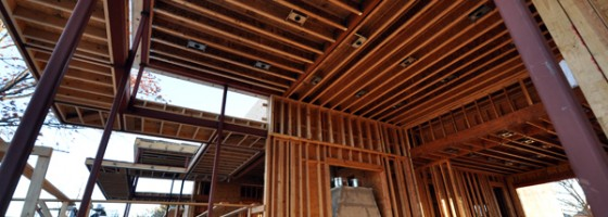 Cottonwood Modern main living room framing