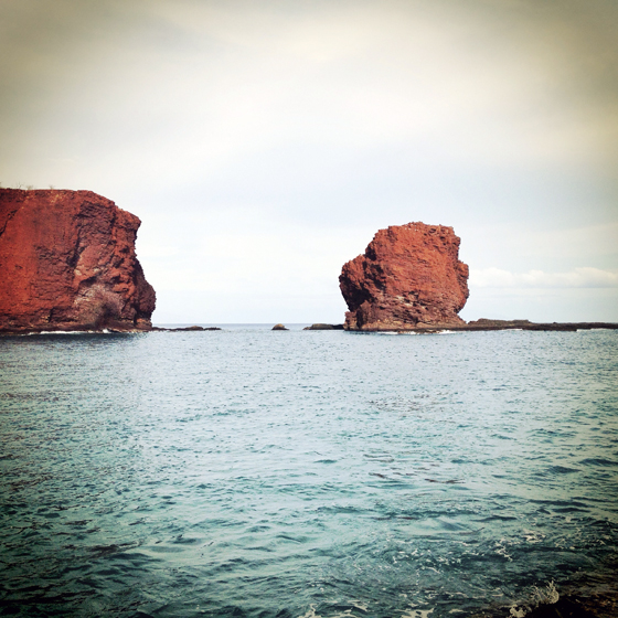 Sweetheart Rock on the Island of Lanai