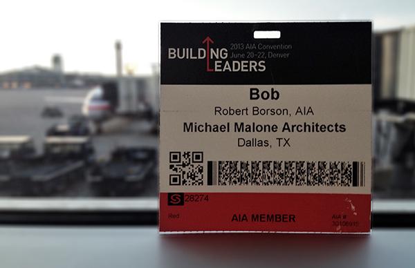 Bob Borson AIA National Convention 2013