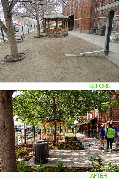"""AEC Cares Denver 2012 - Before and After """"Exterior Landscaping"""""""