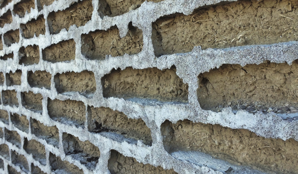 Adobe Brick and Cement Mortar