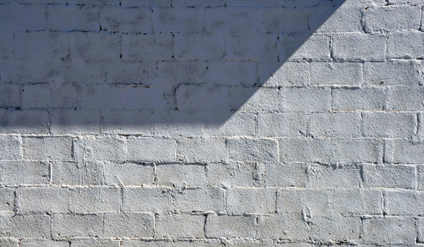 painted handmade brick