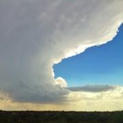 Big Bend National State Park - desert storm cloud