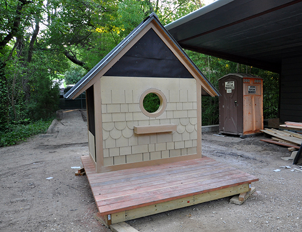 The Bird Playhouse with siding from James Hardie