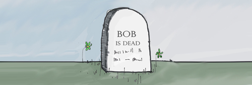The Tombstone for Bob Borson