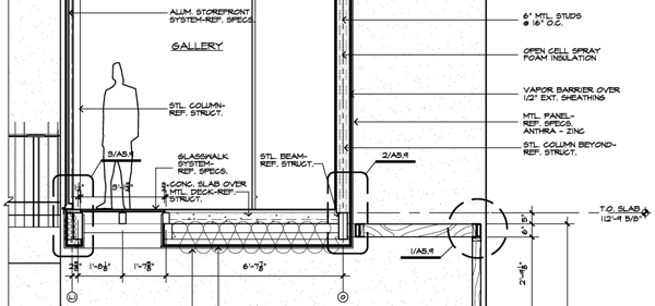 Wall Section Drawing in CAD