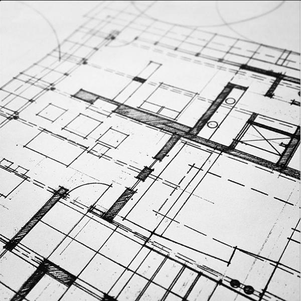 Hand Drawn Architectural Floor Plan