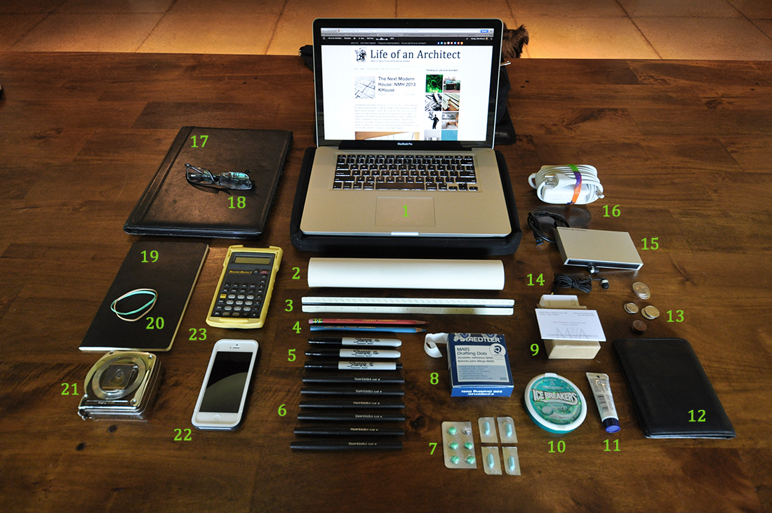 What's in an Architect's bag?