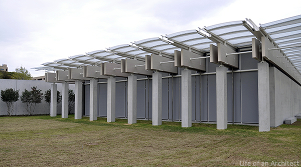 Renzo Piano Kimbell Museum exterior elevation 03