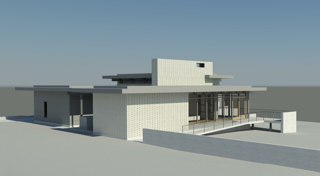 KHouse Modern BIM side perspective Aug 2013