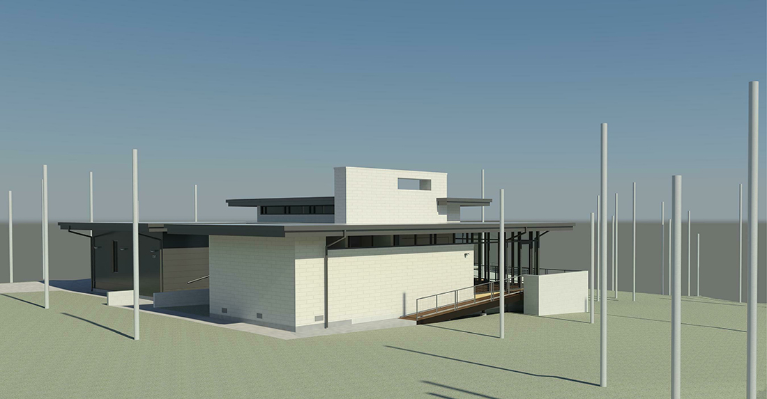 KHouse Modern BIM side perspective Jan 2014