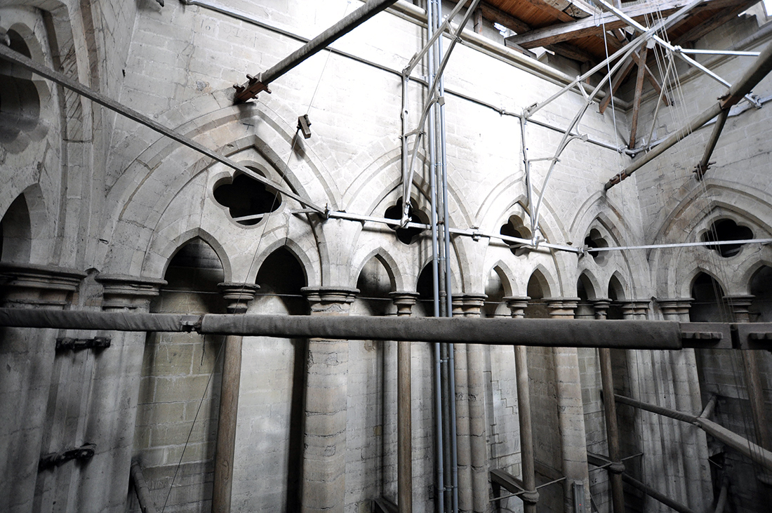 Salisbury Cathedral bell tower bracing